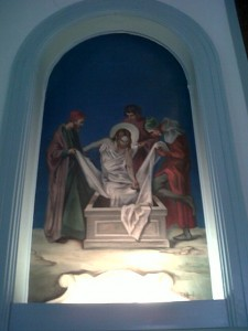 Fourteenth Station: Jesus is Laid in the Sepulcher.