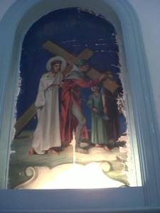 Fifth Station: Simon, the Cyrenean, Helps Jesus Carry His Cross